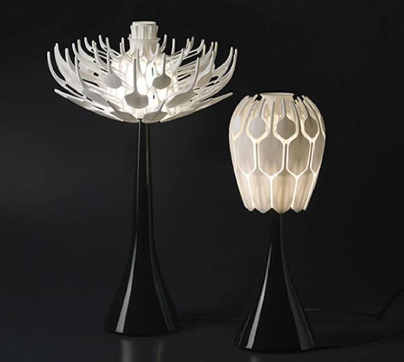 Table Lamp Inspired by Flower Blossom