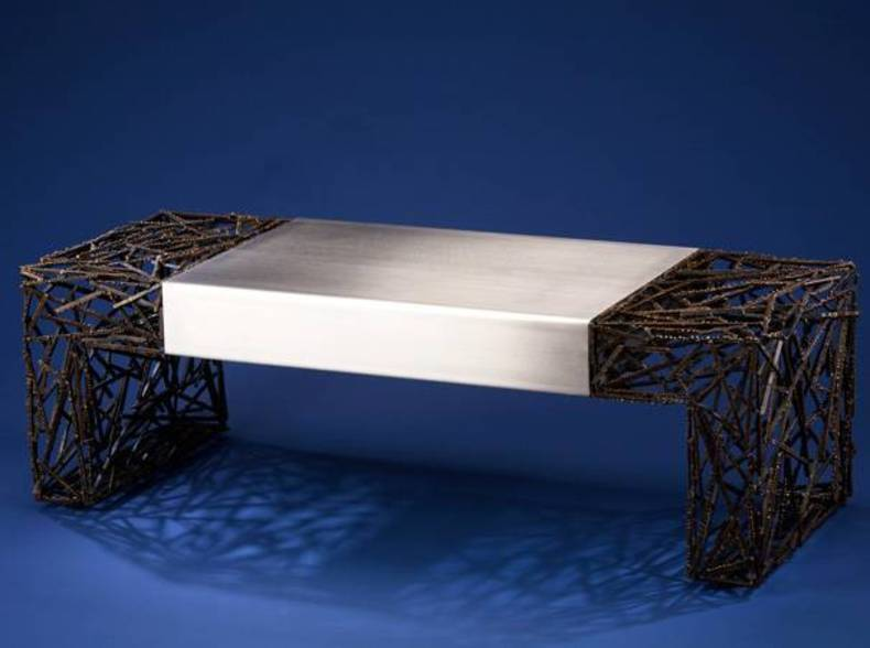 Cool Two-Faced Coffee Table by Dan McCabe