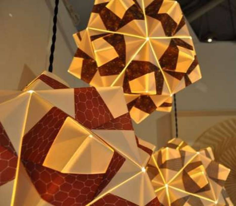 Free Folded Paper Pendant Lamps By Andrew Ooi