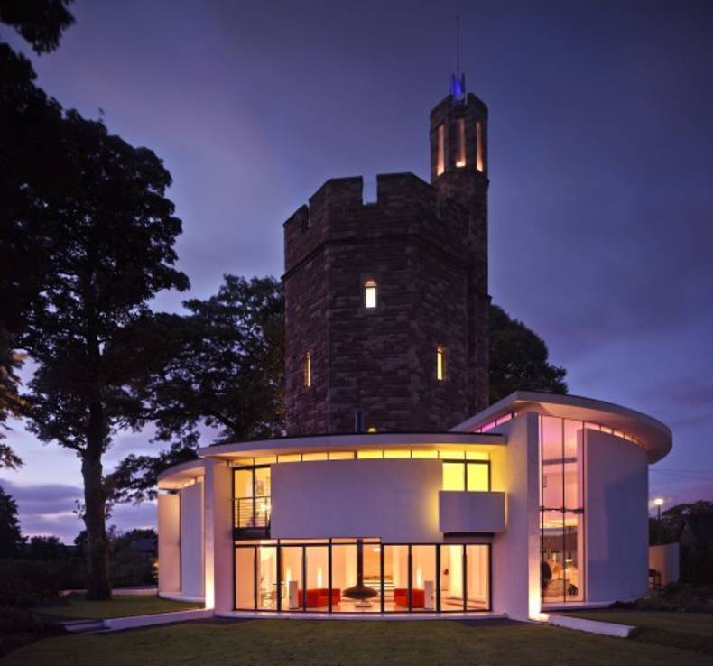 A Modern Castle: Lymm Water Tower House by Ellis Williams Architects