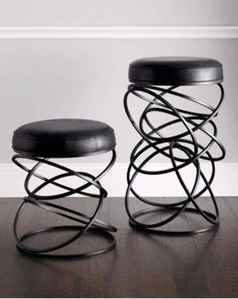 "Contemporary ""Dancing Circles"" Stools"