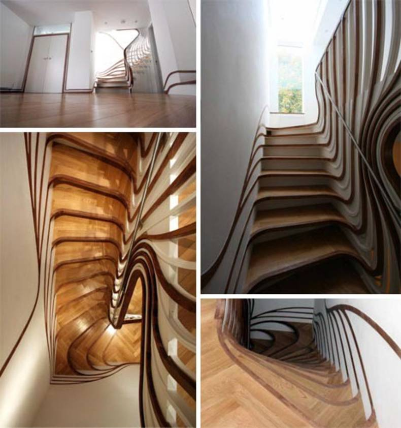 Asymmetrical Breathtaking Staircases by Alex Haw of Atmos