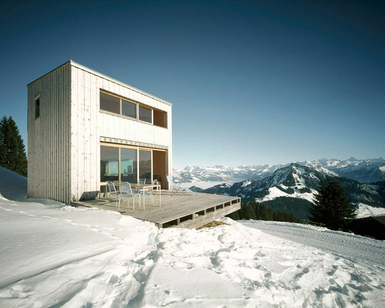 Winter House in the Alps by AFGH Architects