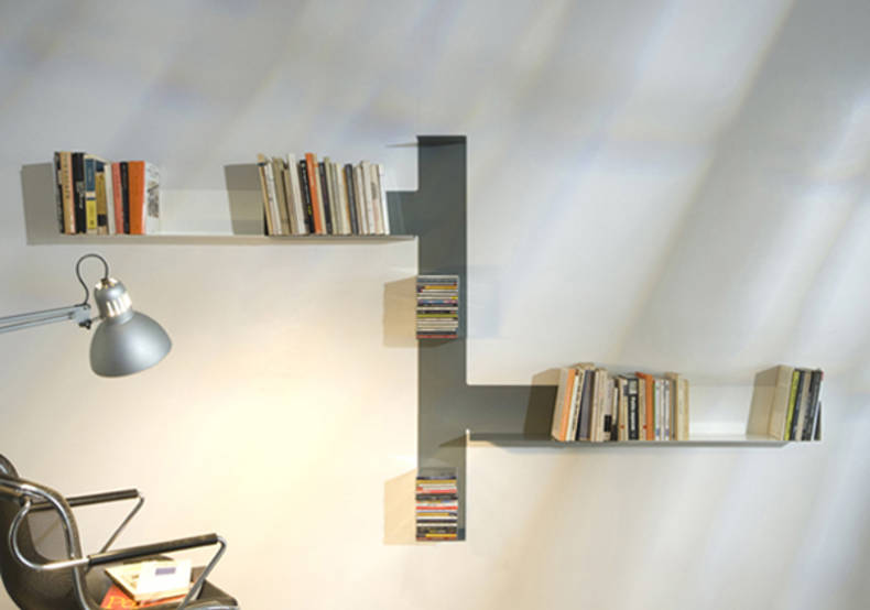 Invisible TEEbooks Shelving System by Mauro Canfori