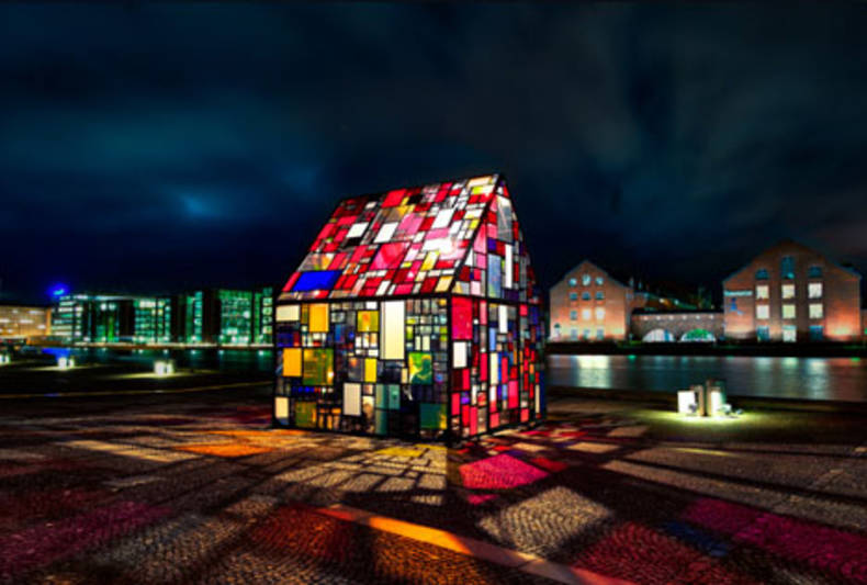 Stained Glass Art House by Tom Fruin