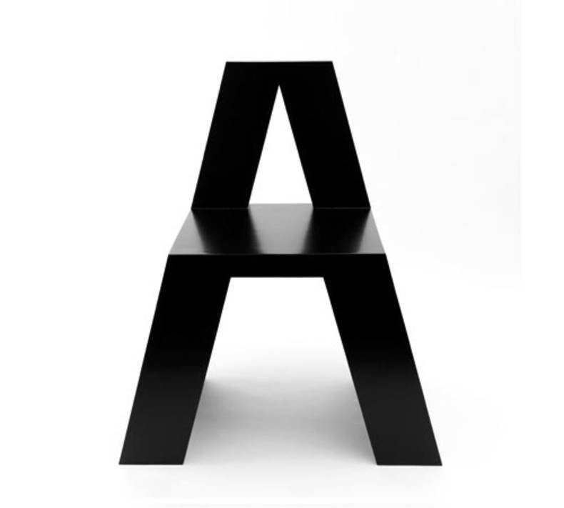 ABChairs by Roeland Otten: an Alphabet to sit on