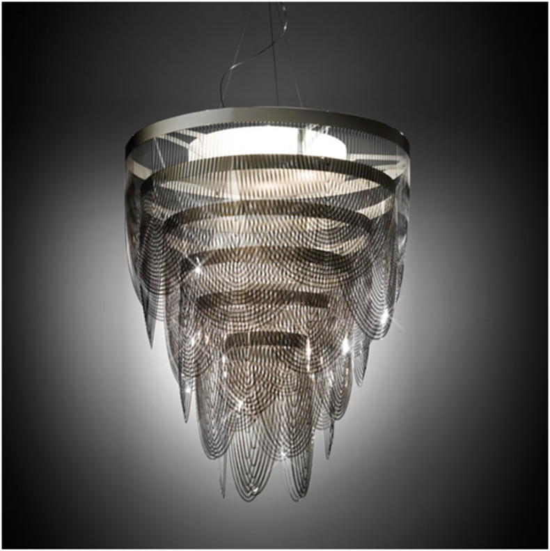 Chic and Elegant Ceremony Chandelier by Bruno Rainaldi