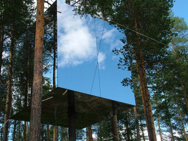 The unique concept Treehotel to experience nature among the tree-tops
