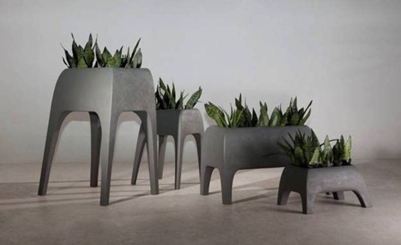 A stylish collection of pots - Safari Planters