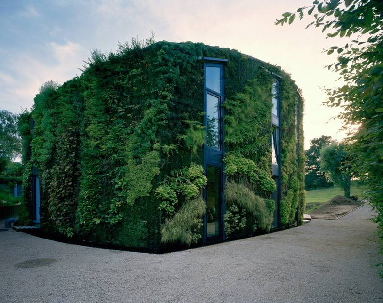 House With Plants-Protected Exterior in Brussels by Samyn and Partners