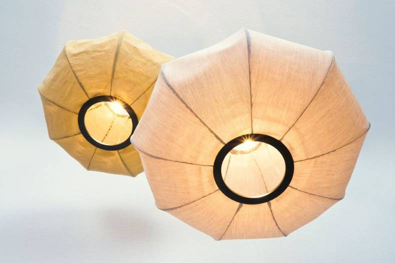 Aria Pendant Lamps Creating Warm Diffuse Light