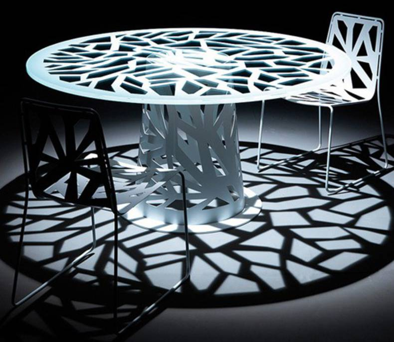 Contemporary Perforated Furniture – Domino by Esedra