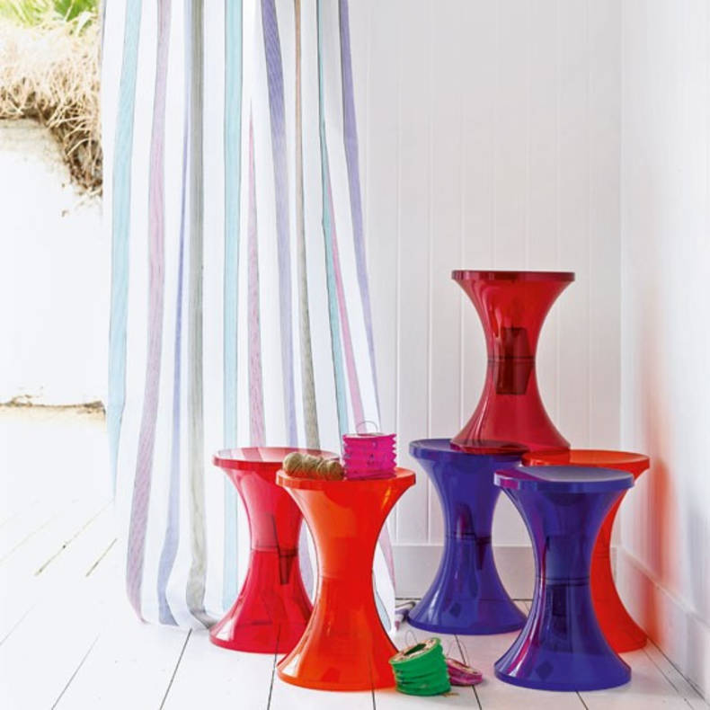 Plastic design stools by Henry Massonnet