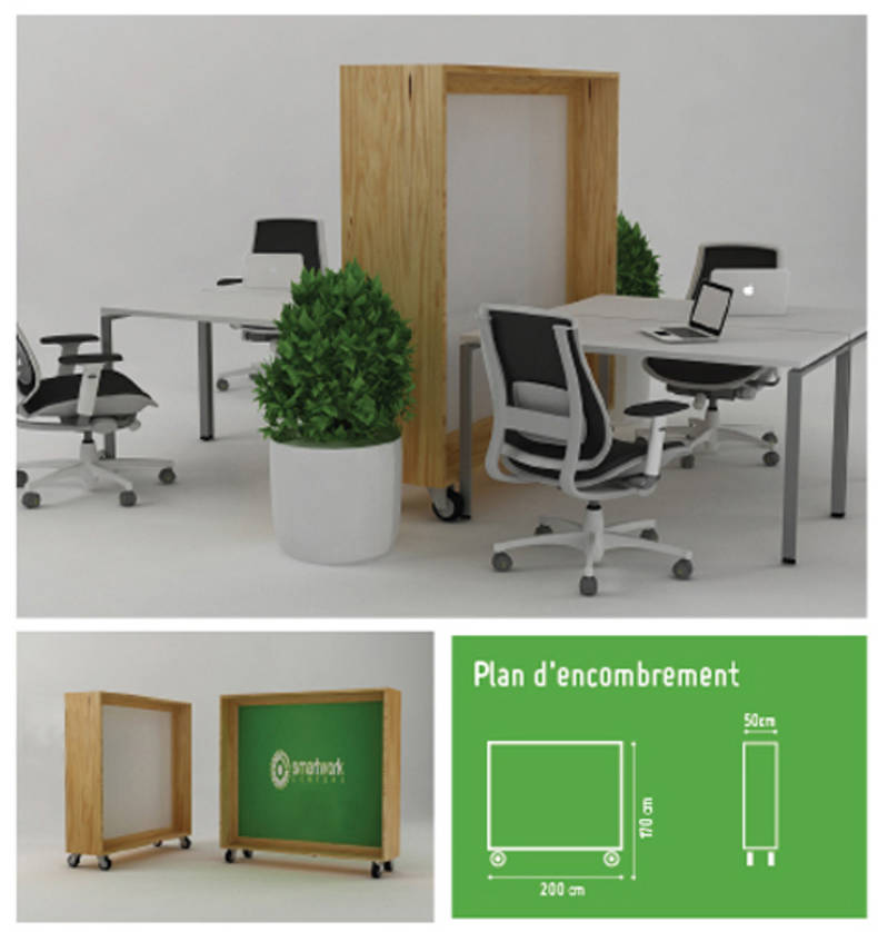 "Smart work centers from ""Two designers"""