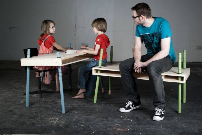 Growing Tables by Austrian Designers Perludi