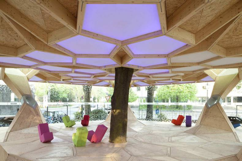 Treehugger Pavilion by Holger Hoffmann, One Fine Day