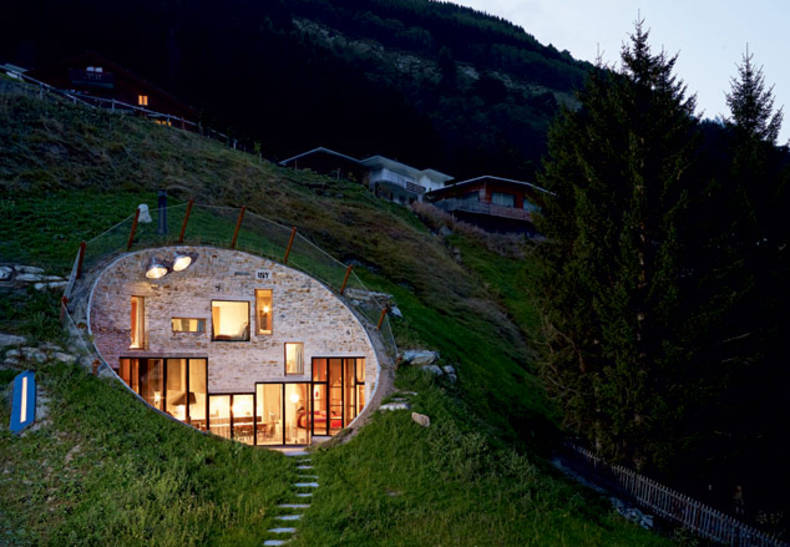 The house in Vals, which is difficult to find. SeARCH & CMA project
