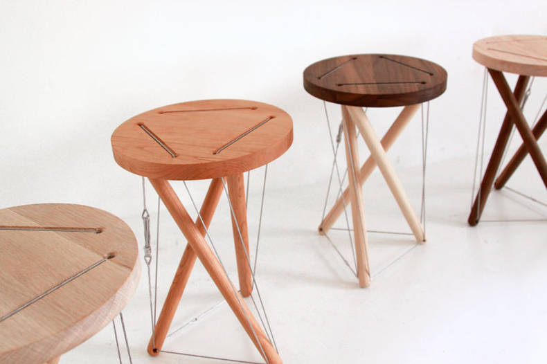 Sam Weller's 'Snelson Stool' without any Screw or Nail