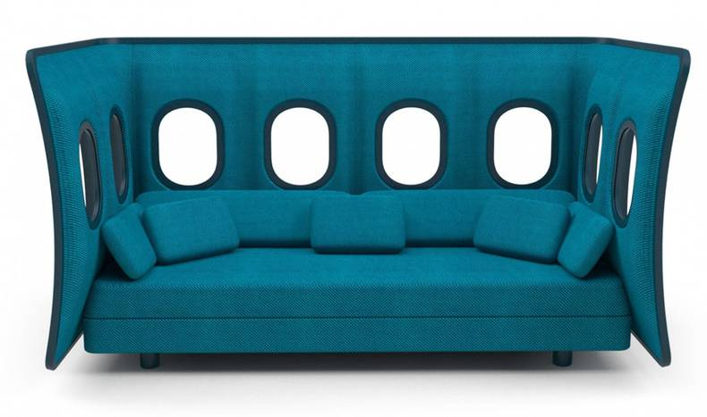 Evaluative seat with a plane panel by Marc Venot