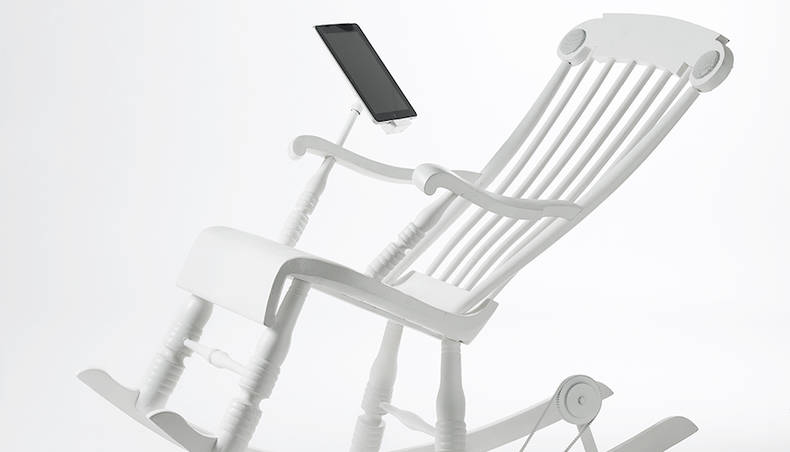 Rocking Chair with a ?harging Function for Apple Devices