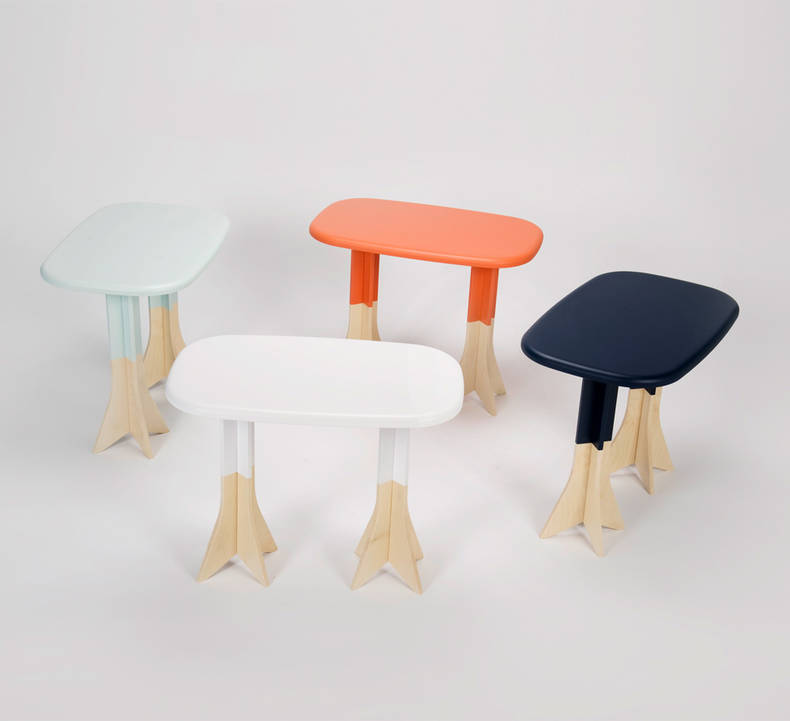 Two in One: a stool and a table by Gentle Giants Studio