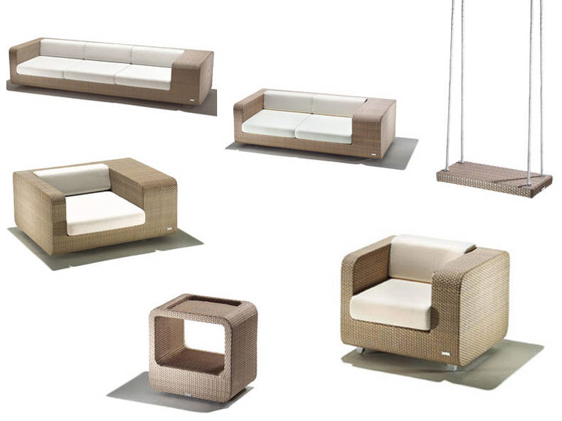 'Hug' Collection of Outdoor Furniture by Schönhuber Franchi