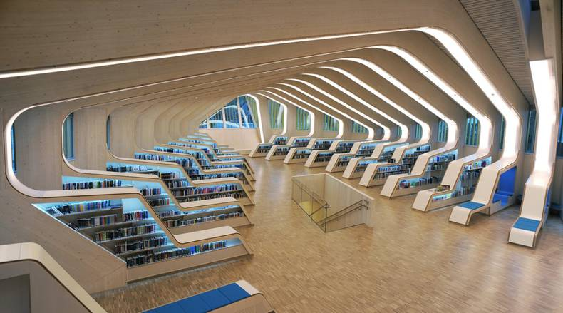 Library in Vennesla  by Helen & Hard