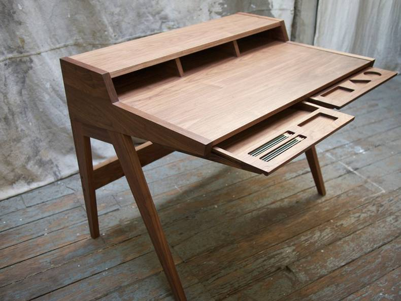 Laura Desk Made of the Finest Domestic Hardwoods: Phloem Studio