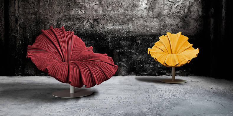 Hibiscus Flower Bloom Chair by Kenneth Cobonpue