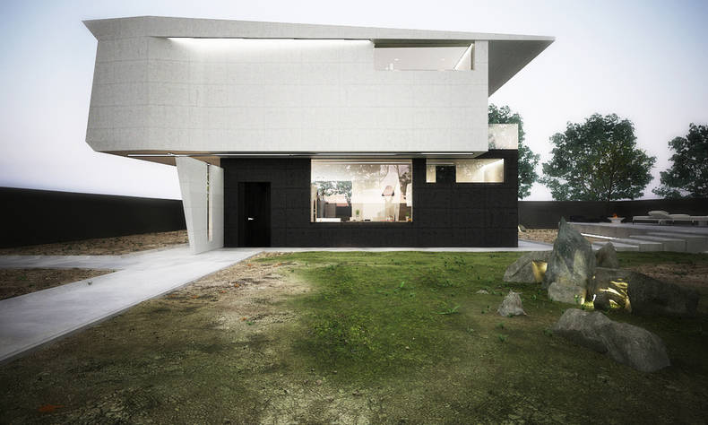 'Contrast' is a motto of architects of  M House