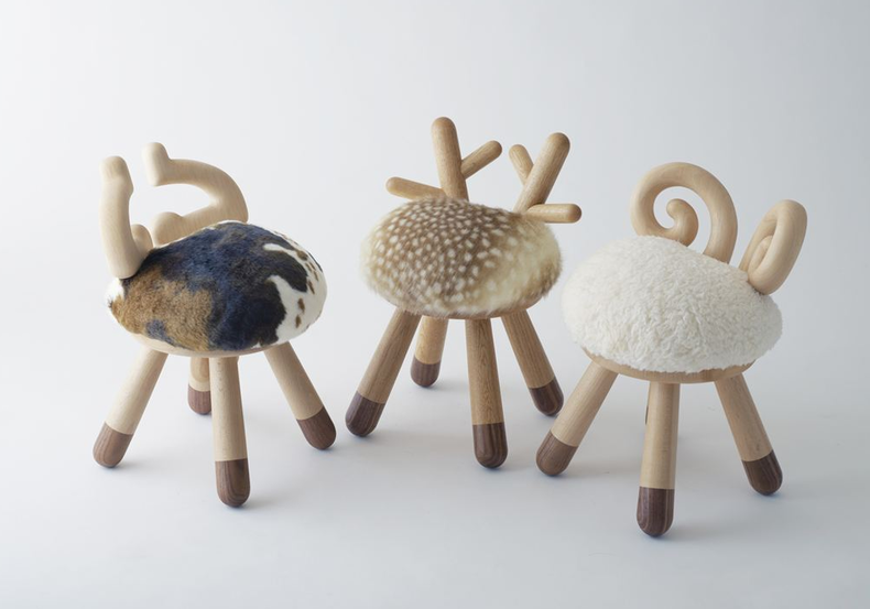 Funny Chairs with Horns and Hooves by Kamina & C