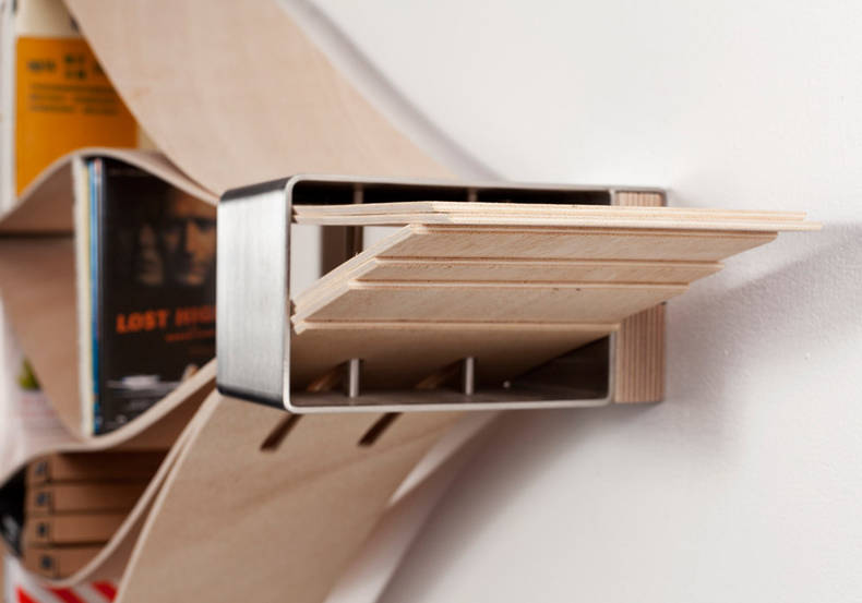 Bookshelf of Flexible Design by Natascha Harra-Frischkorn