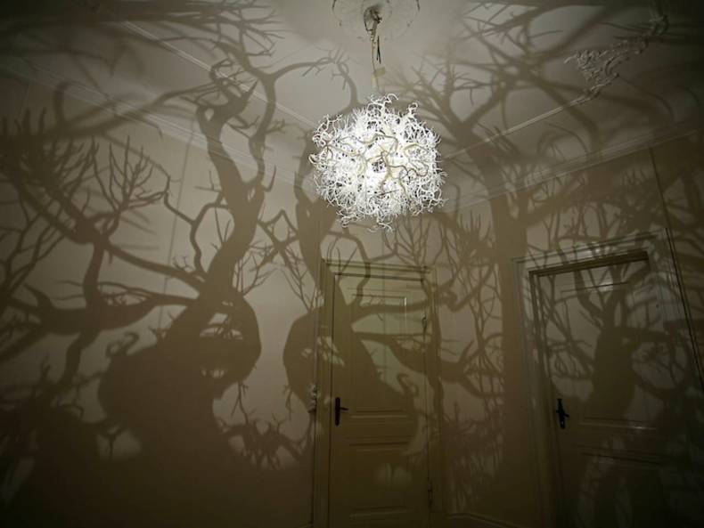 """Forms in Nature"" Lamp, Casting Unusual Shadows, by Thyra Hilden and Pio Diaz"