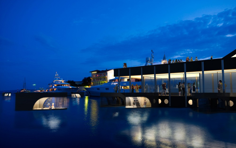 The Botel for Exploring the Beautiful Surroundings of the Adriatic Sea