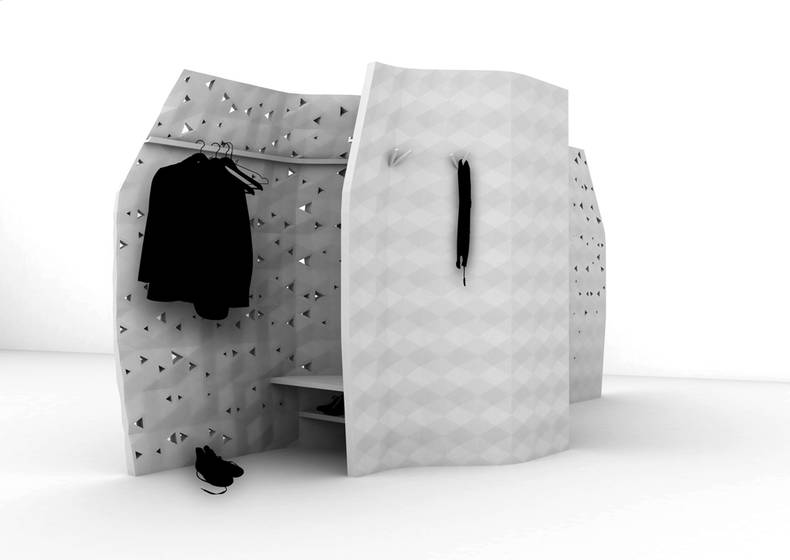 3D-Printed Walls by Bryuman François and Sonia Laugier